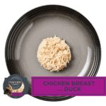 Isolated aerial image of Encore chicken breas with duck cat food