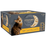 Isolated image of a box of Encore chicken dry cat food