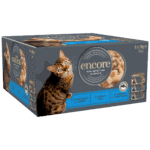 Box of 8 finest selection fish cat food in broth tins