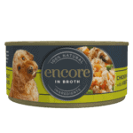 Encore chicken in broth dog food with vegetables tin