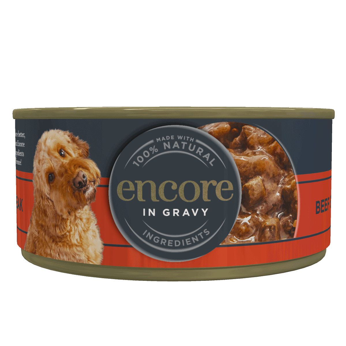 Encore Beef steak in gravy 156g tin