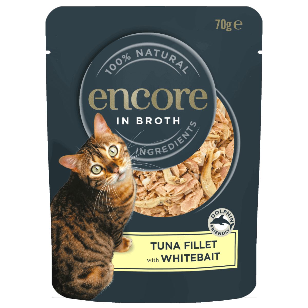 Tuna fillet with whitebait 70g Pouch