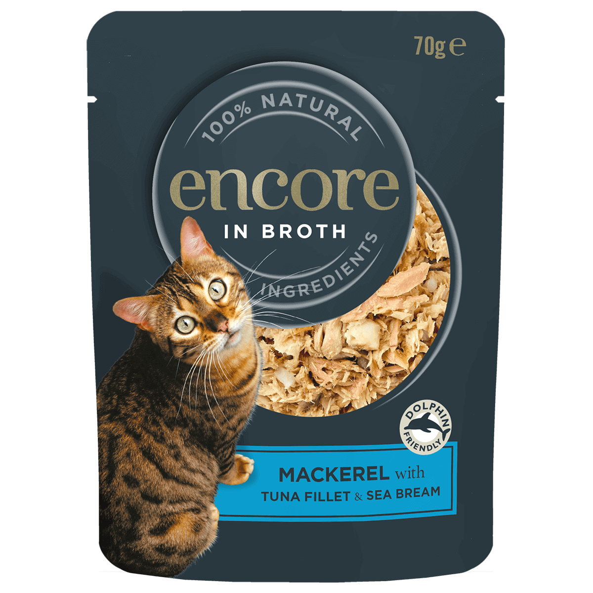 cat food pouch mackerel with tuna and sea bream