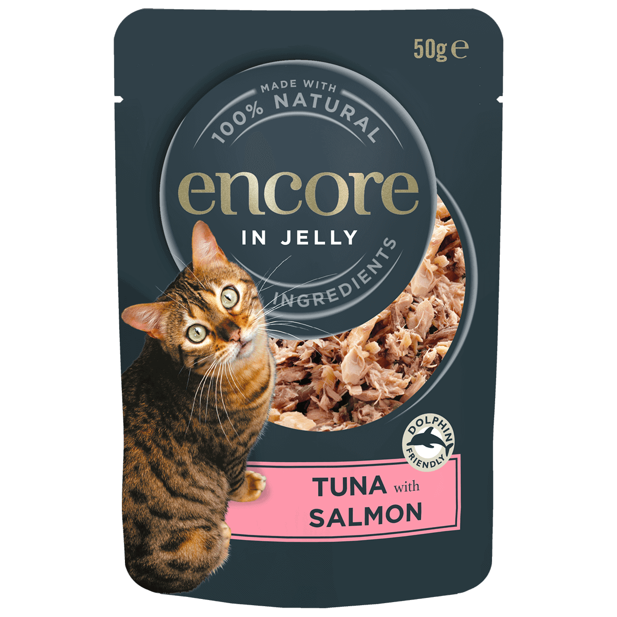 cat food pouch tuna with salmon