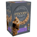 Box of Encore finest selection cat food in jelly