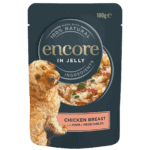 dog food pouch chicken with ham and vegetables