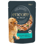 dog food pouch chicken with tuna and vegetables