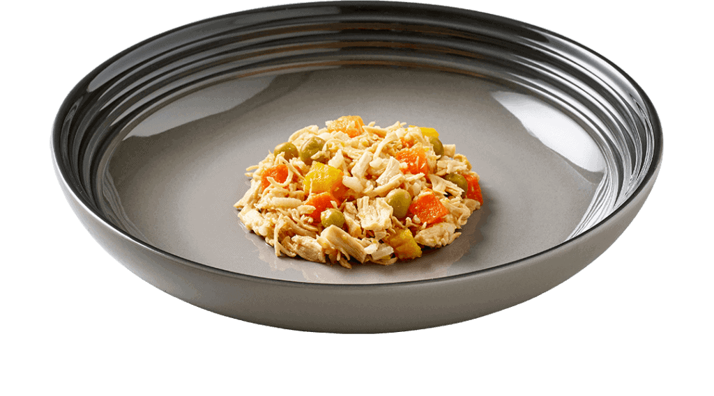 pet food CHICKEN AND VEGETABLE