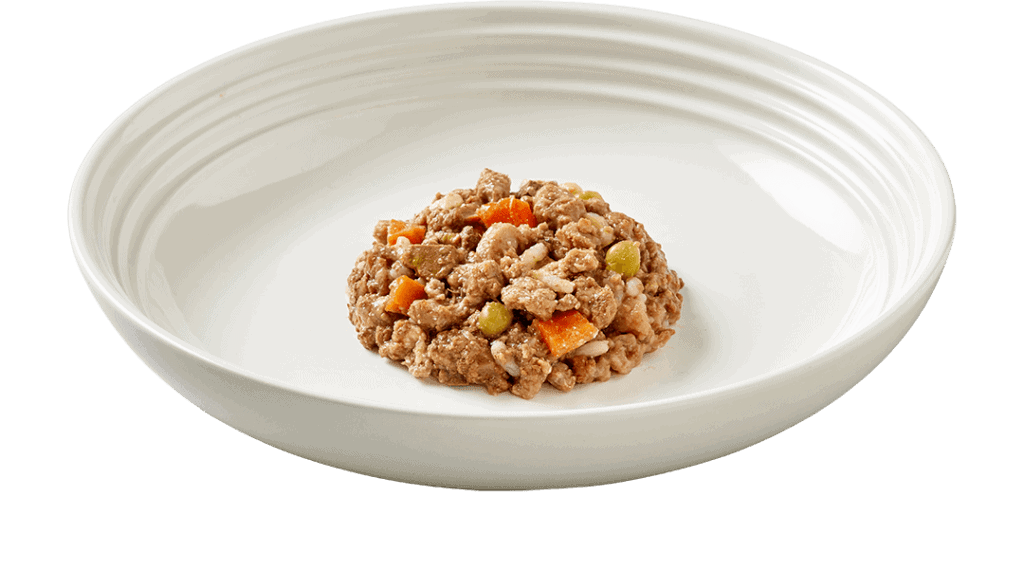 pet food BEEF STEAK WITH VEGETABLES